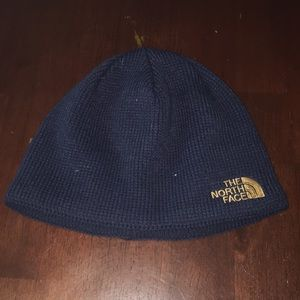 The North Face Beanie Black with Gold Accent